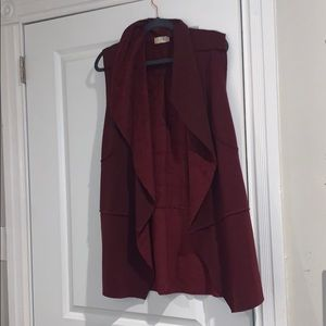 Super Soft Maroon Vest from Altar'd State